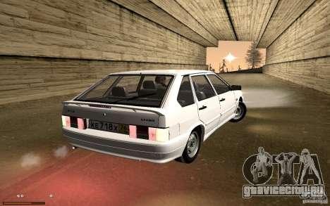 ВАЗ 2114 Quality для GTA San Andreas вид изнутри