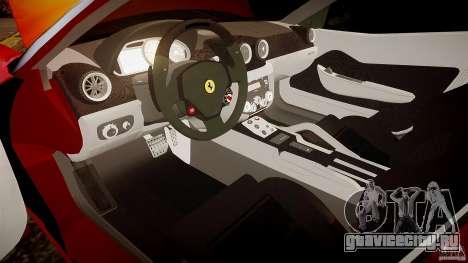 Ferrari 599 GTB для GTA 4 вид изнутри