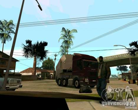 Iveco Stralis для GTA San Andreas вид сзади