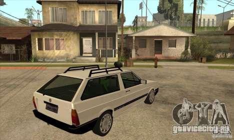 VW Parati GLS 1989 для GTA San Andreas вид справа