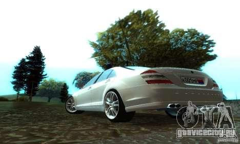 Mercedes-Benz S500 W221 Brabus для GTA San Andreas вид сзади слева