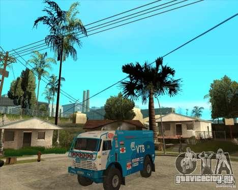 KAMAZ 4911 (2007) Rally Raid version для GTA San Andreas