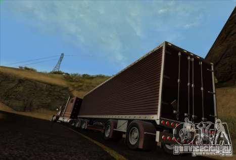 Freightliner Classic XL Custom для GTA San Andreas вид сзади