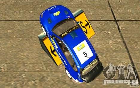 Новый винил к Subaru Impreza WRX STi для GTA San Andreas вид справа