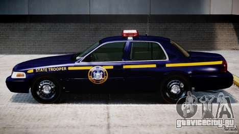 Ford Crown Victoria New York State Patrol [ELS] для GTA 4 вид сзади слева