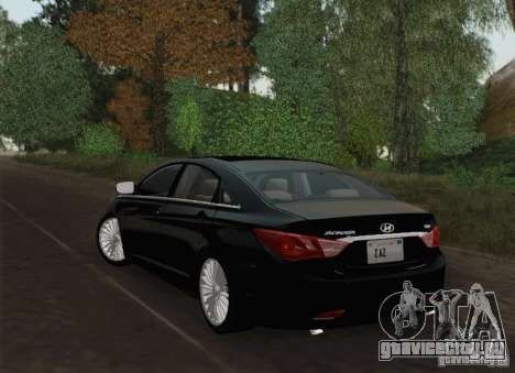 Hyundai Sonata 2012 для GTA San Andreas вид снизу