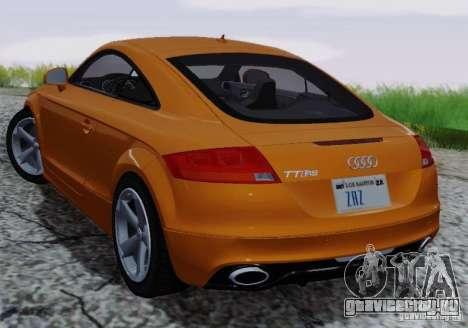 Audi TT-RS Coupe для GTA San Andreas вид сверху