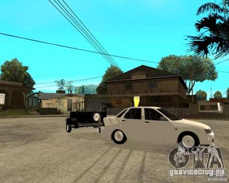 ВАЗ 2170 Приора Light tuning и прицеп для GTA San Andreas вид справа