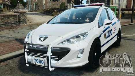 Peugeot 308 GTi 2011 Police v1.1 для GTA 4