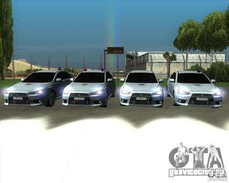 Mitsubishi Lancer Evolution X MR1 v2.0 для GTA San Andreas вид сверху