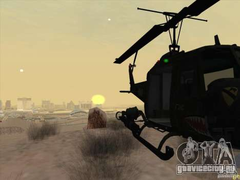 Вертолёт huey из call of duty black ops для GTA San Andreas вид сзади
