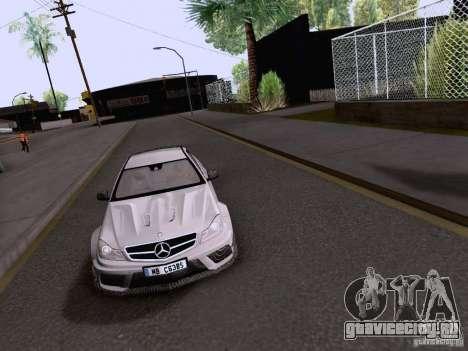 Mercedes-Benz C63 AMG Coupe Black Series для GTA San Andreas вид справа