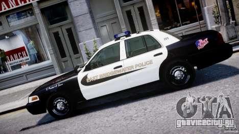 Ford Crown Victoria Massachusetts Police [ELS] для GTA 4 вид слева