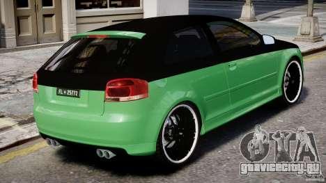 Audi S3 для GTA 4 салон