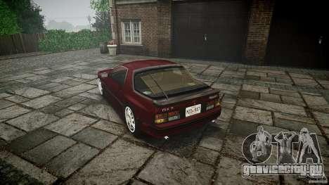 Mazda RX7 FC3S для GTA 4 вид сзади слева