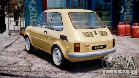 Fiat 126p 1976 для GTA 4 вид сзади слева