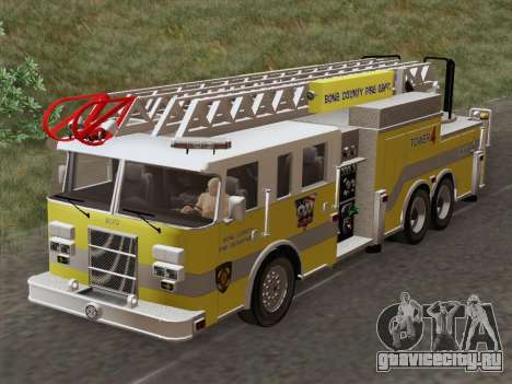 Pierce Arrow XT BCFD Tower Ladder 4 для GTA San Andreas вид изнутри