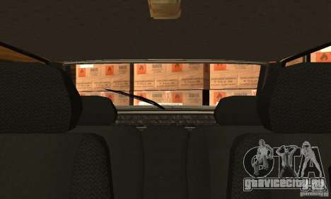 Ваз 2113 Люкс v.1.0 для GTA San Andreas вид изнутри