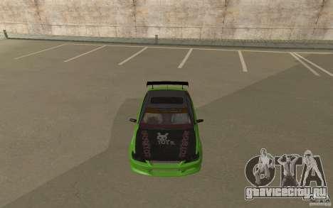 Toyota Altezza Toy Sport для GTA San Andreas вид сзади слева