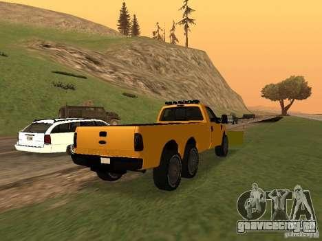 Ford Super Duty F-series для GTA San Andreas вид сзади слева