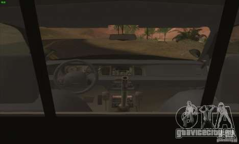 Ford Crown Victoria Florida Police для GTA San Andreas вид справа