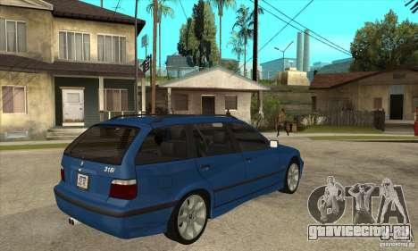 BMW 318i Touring для GTA San Andreas вид сбоку