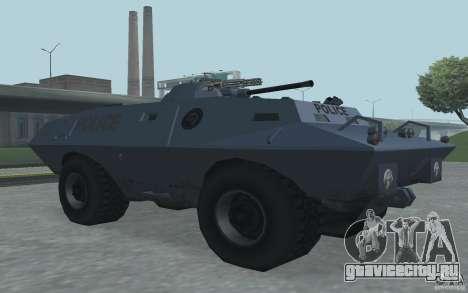 Swatvan с пулемётом для GTA San Andreas третий скриншот