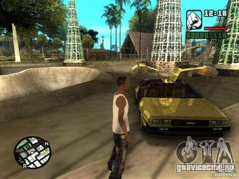 Golden DeLorean DMC-12 для GTA San Andreas вид справа