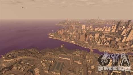 Фиолетовый цвет воды для GTA 4 четвёртый скриншот