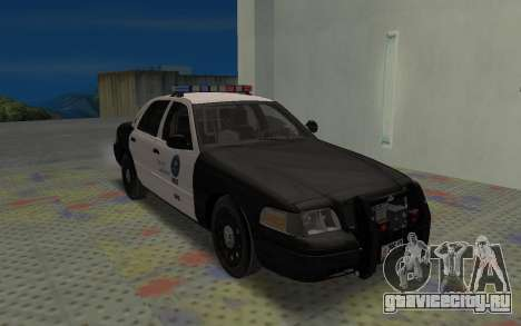 Ford Crown Victoria Police Interceptor LSPD для GTA San Andreas вид слева