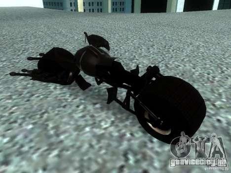 Batpod для GTA San Andreas вид сзади слева