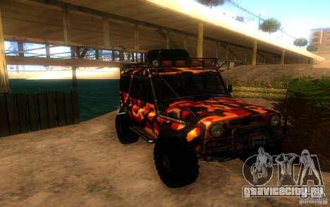 УАЗ 4х4 для GTA San Andreas вид сзади