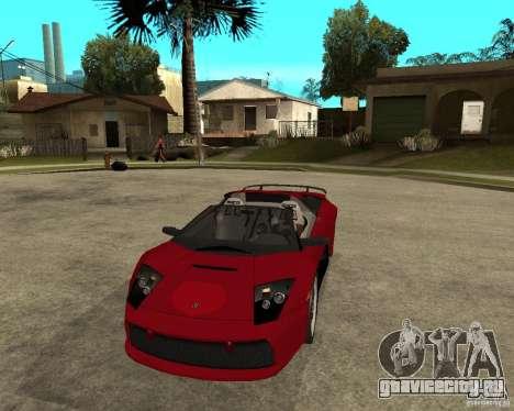 Lamborghini Murcielago SHARK TUNING для GTA San Andreas вид сзади