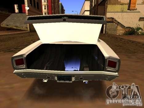 Plymouth GTX 1969 для GTA San Andreas вид сзади слева