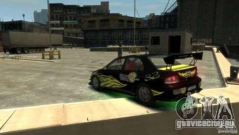 Mitsubishi EVO IX для GTA 4 вид сзади слева