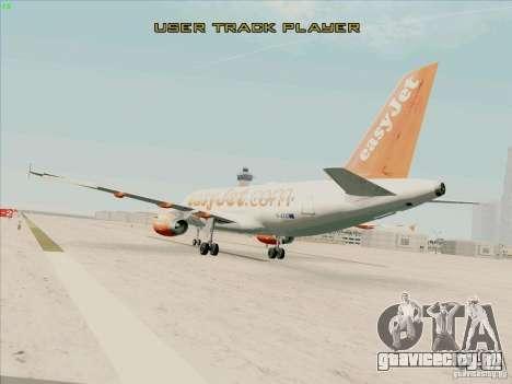 Airbus A319 Easyjet для GTA San Andreas вид слева