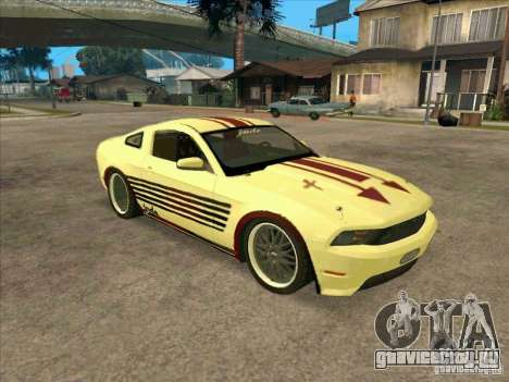 Ford Mustang Jade from NFS WM для GTA San Andreas вид слева