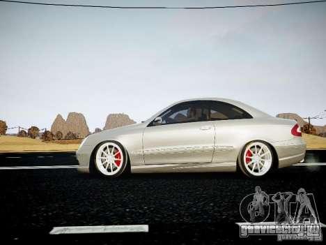 Mercedes-Benz CLK63 AMG Final для GTA 4 вид сзади слева