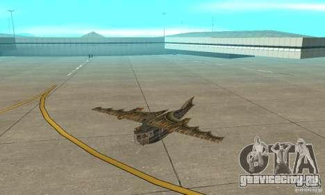 Очень красивый самолет из TimeShift для GTA San Andreas вид слева