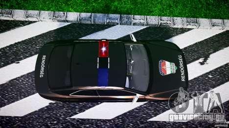 Audi S5 Hungarian Police Car black body для GTA 4 вид справа
