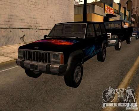 Jeep Cherokee для GTA San Andreas вид справа