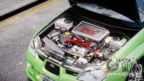 Subaru Impreza STI Wide Body для GTA 4 вид изнутри