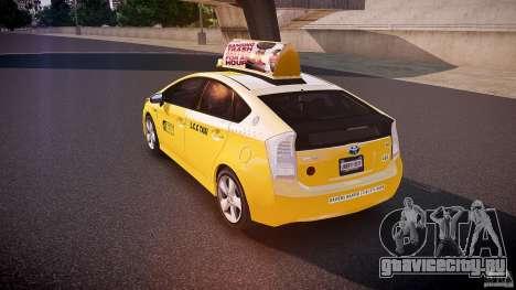 Toyota Prius LCC Taxi 2011 для GTA 4 вид сзади слева