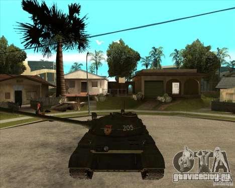 Т-55 для GTA San Andreas вид сзади