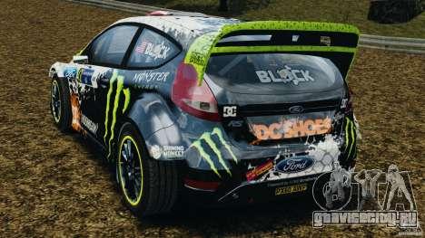 Ford Fiesta RS WRC Gymkhana v1.0 для GTA 4 вид сзади слева