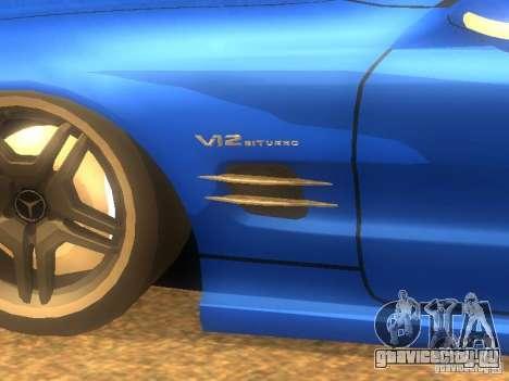 Mercedes-Benz SL65 AMG для GTA San Andreas вид слева