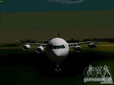 Airbus A-340-600 Singapore для GTA San Andreas вид сзади