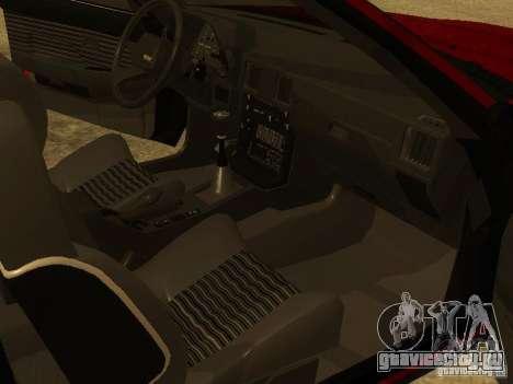 Toyota Celica Supra для GTA San Andreas вид снизу