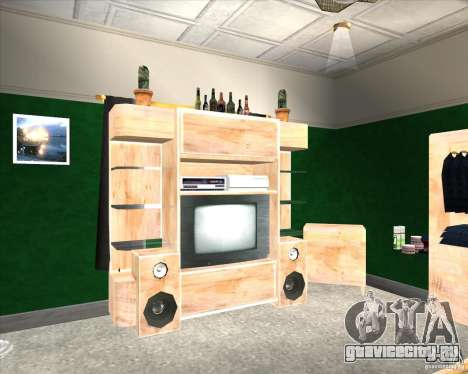 New Interior of CJs House для GTA San Andreas второй скриншот