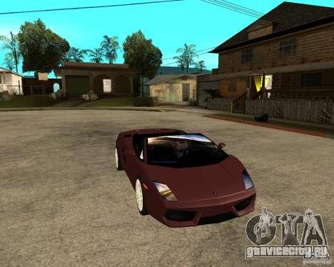 Lamborghini Gallardo LP560-4 Spyder для GTA San Andreas вид сзади